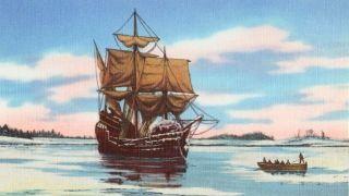 Mayflower at Sea
