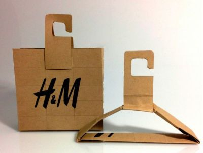 Transforming Recycled Shopping Bags : H&M packaging concept