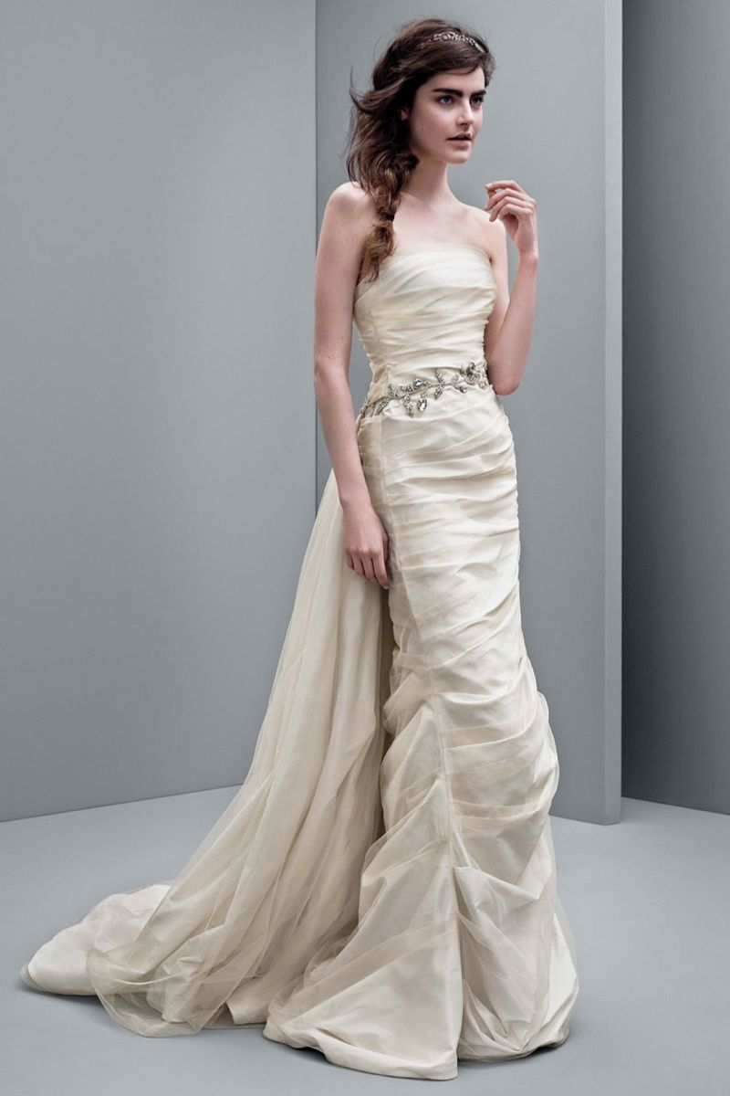 white by vera wang fall affordable wedding dresses Affordable Wedding Dresses