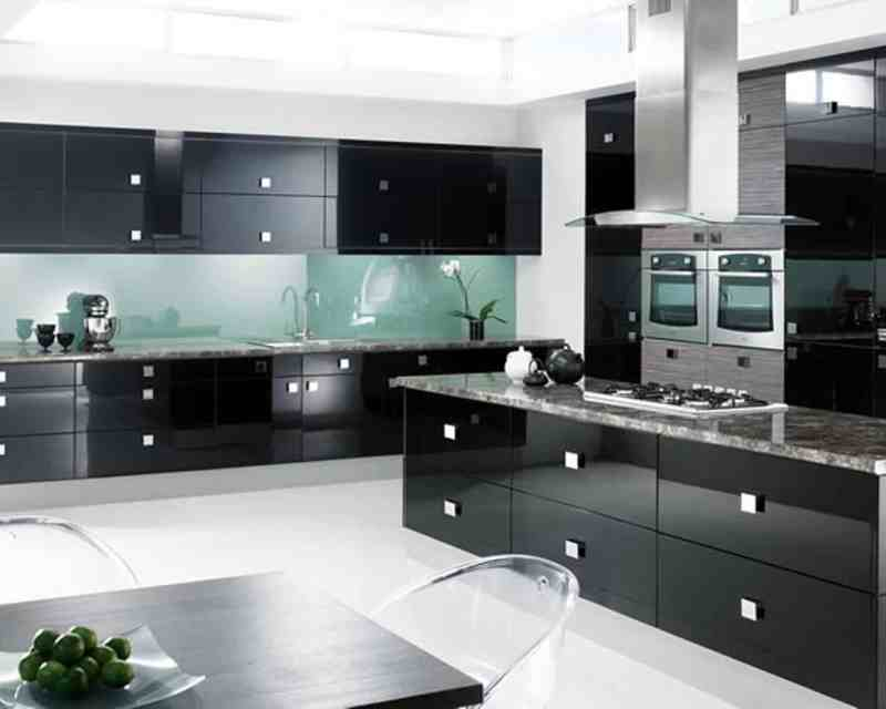 Large Of Black Cabinet Kitchens