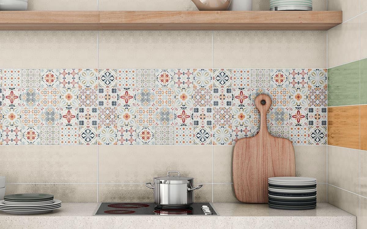 patchwork tile backsplash ideas kitchen backsplash tile for kitchen View in gallery kitchen backsplash tile pavigres almira