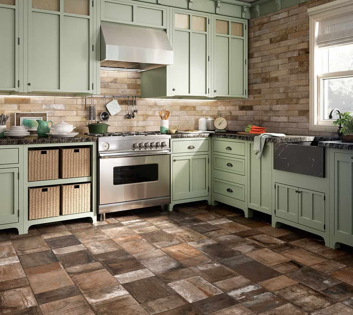 beautiful tile flooring ideas for living room kitchen bathroom designs kitchen flooring View in gallery terracotta effect flooring tile kitchen terre nuove santagostino