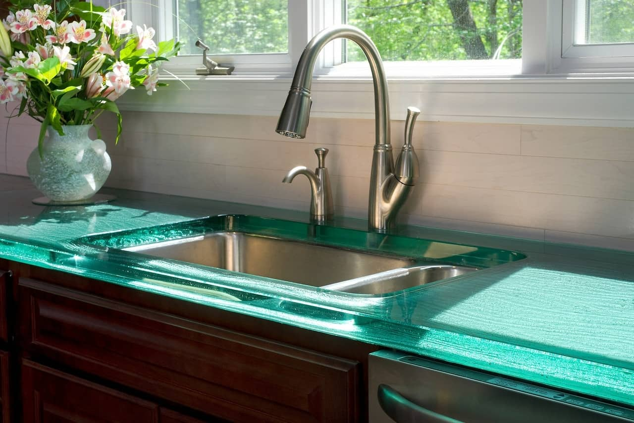 modern kitchen countertops from unusual materials kitchen countertop options View in gallery modern countertops unusual material kitchen glass 2