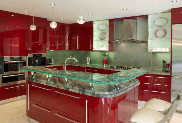 modern kitchen countertops from unusual materials glass kitchen countertops View in gallery modern countertops unusual material kitchen glass 3
