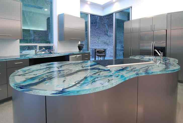 modern kitchen countertops from unusual materials countertops kitchen View in gallery modern countertops unusual material kitchen glass 6
