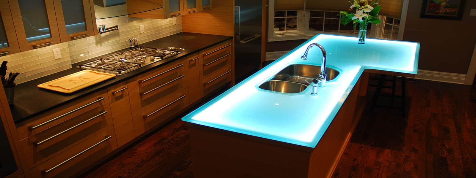 modern kitchen countertops from unusual materials kitchen countertop ideas View in gallery modern countertops unusual material kitchen glass Modern Kitchen Countertops from Unusual Materials 30 Ideas