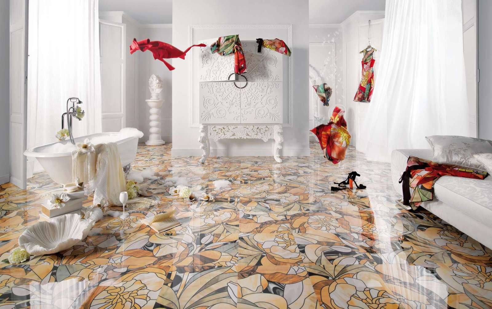 beautiful tile flooring ideas for living room kitchen bathroom designs kitchen tile flooring 25 Beautiful Tile Flooring Ideas for Living Room Kitchen and Bathroom Designs