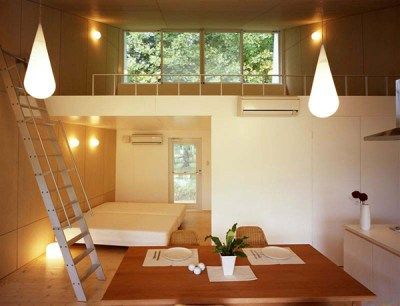 Small Home Design Ideas - metal clad house with wood interior