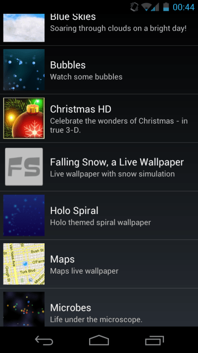 Creating Live Wallpapers on Android