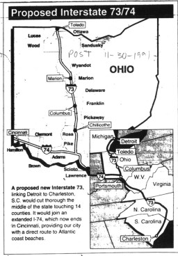 Cincinnati Post 11.09.1991 Map