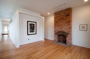 Shot Gun Row Fireplace Interior