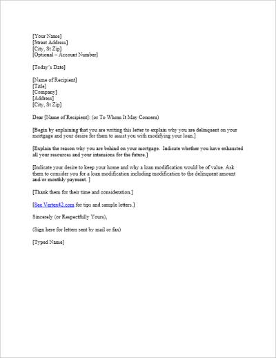 Free Hardship Letter Template   Sample Mortgage Hardship Letter