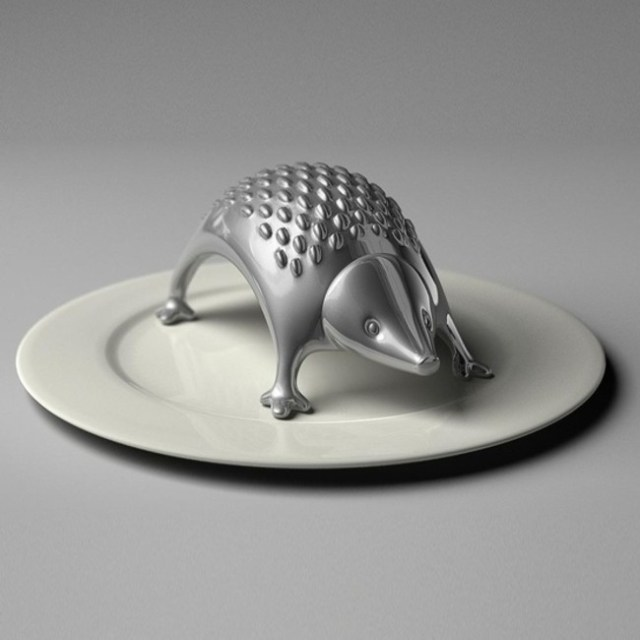 A hedgehog cheese grater.