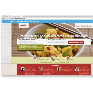 White Seamless Online Food Ordering Site Grubhub Which Merged 2013 To Start Ir Own Delivery Company Has Seen An About Grubhub Will Dominate Food Delivery Market By Cutting Out