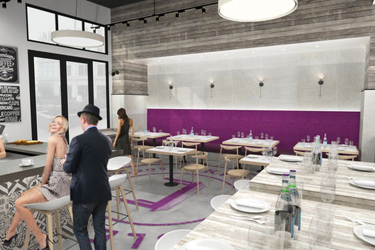 kitchen table squared opening gramercy summer kitchen table restaurant Kitchen Table Squared rendering Lebo Design