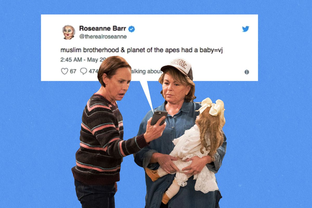 ABC Cancels  Roseanne  in Response to Roseanne Barr s Racist Tweet     ABC Ringer illustration