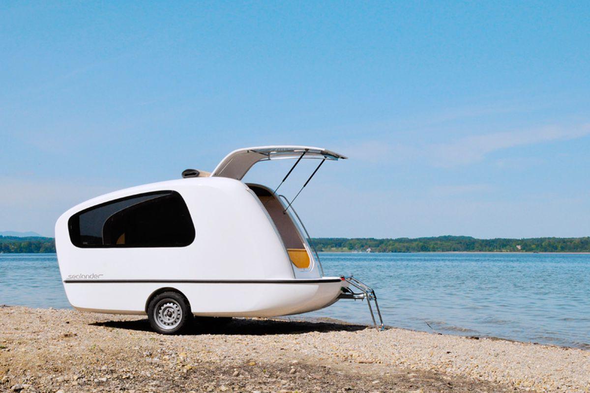 Floor Sealander Tiny Camper Transforms Into Mini Boat Sale Just Curbed Mini Camper Vans Sale Australia Mini Camper Vans All Photos Courtesy curbed Mini Camper Van