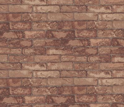 Brick Wall Red by Eijffinger - Red : Wallpaper Direct