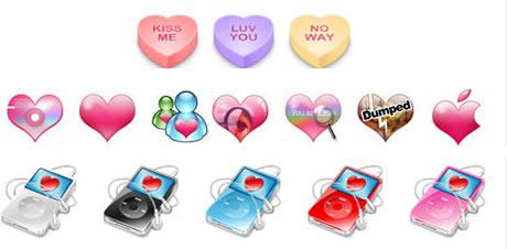 iconos amor corazones Iconos, Protectores de Pantalla, Wallpapers y Mas del dia del amor