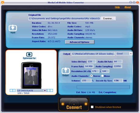 programa convertir videos celular gratis Convertir videos para celular con MediaCell Video Converter