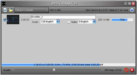 convertir dvd Convertir DVD a iPhone, PSP, Palm con DVD Catalyst
