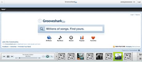 musica musica, escucha musica online en GrooveShark