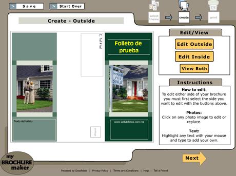 crear folletos Crear folletos online con My Brochure Maker