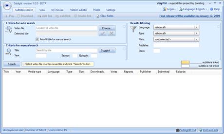 descargar subtitulos Descargar subtitulos de peliculas y series con Sublight