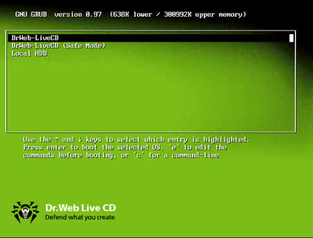 eliminar virus live cd Eliminar virus con Dr.Web LiveCD