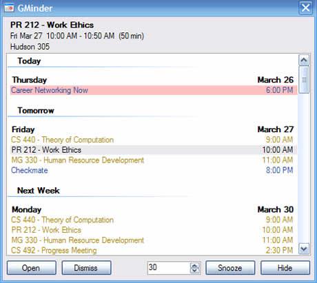 calendario google recordatorios Calendario de google en tu escritorio con GMinder