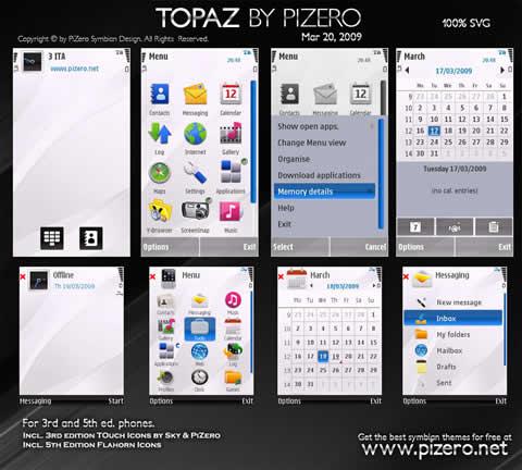 themes nokia gratis1 Temas para nokia, Topaz