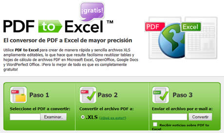 pdf a excel Convertir PDF a excel en PDFtoExcel