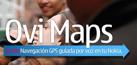 ovi maps Navegador GPS con voz para nokia gratis
