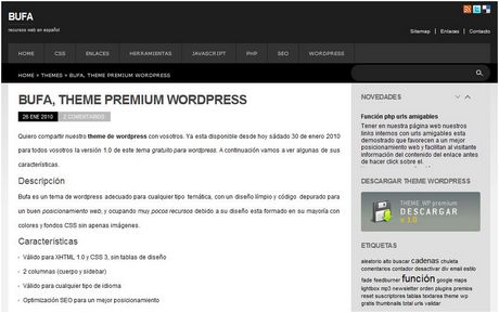 temas wordpress gratis Temas wordpress, bufa