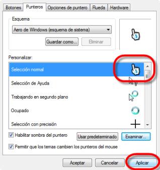 Como cambiar punteros de mouse 5 Como cambiar tu cursor, o puntero del ratón (mouse)