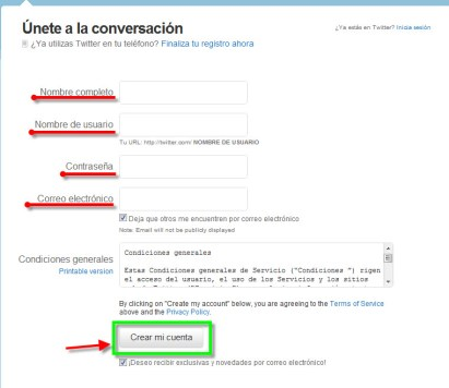 twitter 2 Como crear una cuenta en Twitter