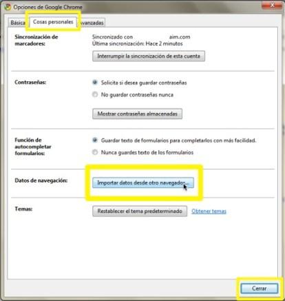 Como importar favoritos de otro navegador a Chrome 1 Como importar favoritos de otro navegador a Chrome