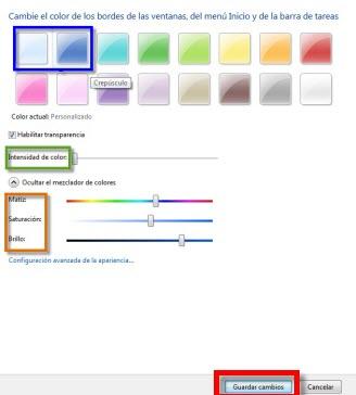 Como personalizar Aero en Windows 7 2 Como cambiar apariencia de ventanas Windows 7