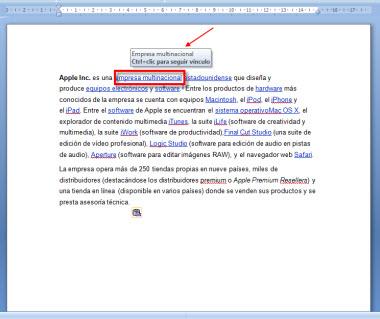 Hipervinculo 1 Como quitar los hipervínculos de un documento en Word