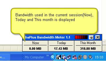ancho de banda utilizado Saber el ancho de banda utilizado con ShaPlus Bandwith Meter