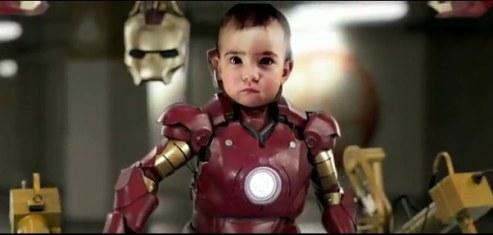 ironbaby Video de Iron man bebe