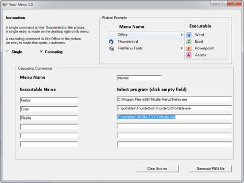 yourmenu Modificar el menu de windows 7 con YourMenu