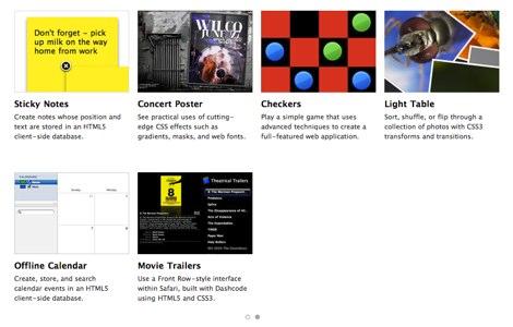 apple html5 demos css3 Demos html5 hechos por Apple