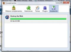 intalar complementos firefox Destroy the Web, juega con Firefox
