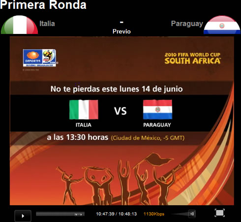 italia paraguay internet Italia vs Paraguay en vivo