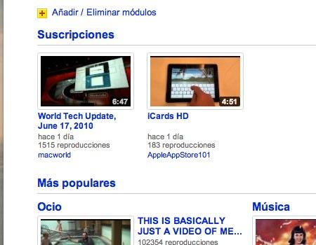 personalizar pagina youtube 3 Como personalizar la pagina principal de YouTube