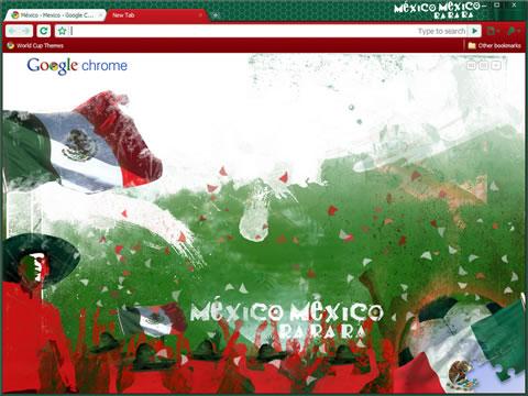 temas chrome mundial futbol Temas chrome del mundial sudáfrica 2010