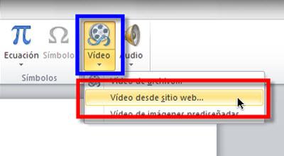 video desde web Insertar videos de Youtube en Power Point 2010