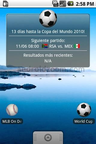world cup 2010 android Mundial Sudafrica 2010 en tu android