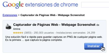 Como guardar pagina internet en imagen 1 Guarda páginas web como imagenes en Google Chrome